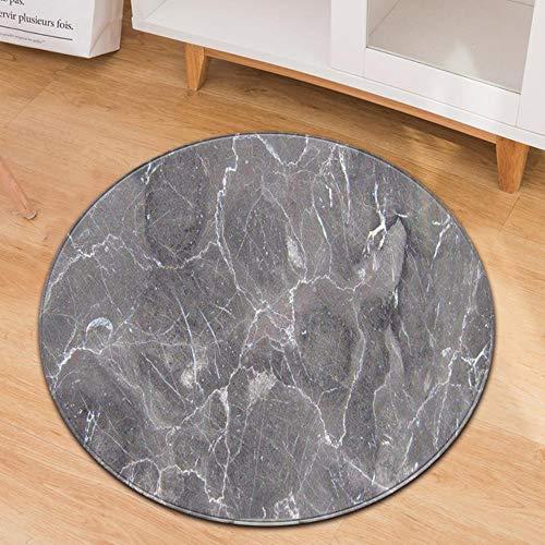 LCZMQRCLMZRQRond tapijt Antislip tapijt voor woonkamer Sofa Vloerkleed Gang ZachtevloermatBureaustoel Tapijt Kinderkamer Vloerkleed, RT-15, Diameter 100cm