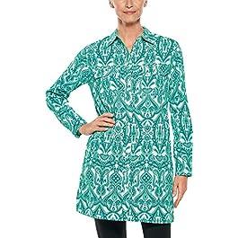 Coolibar UPF 50+ Women's Santorini Tunic Shirt – Sun Protective