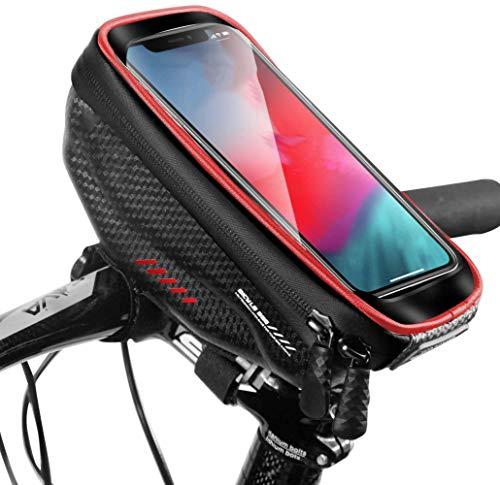 JY Impermeable Gran Capacidad Mtb Bolsas para el Manillar Frame Bag Bolsa de Rack Bolsas de Ciclismo Portátil Vestir Bolsa de Teléfono Soporte para Teléfono Celular con Pantalla Táctil A