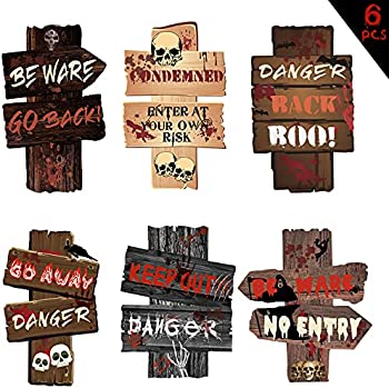 6-Pieces OEAGO Halloween Decor Yard Signs