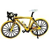 alles-meine.de GmbH 2 Stück _ große - Fahrräder / Bike - E-Bike - gelb & schwarz - 18 cm - stabiles Metall - Modell Maßstab: 1:10 - Deko & Spielen - Dekofahrrad - für Kinder & Er.. -