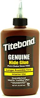 Glue, Liquid Hide, 8 Oz, Amber