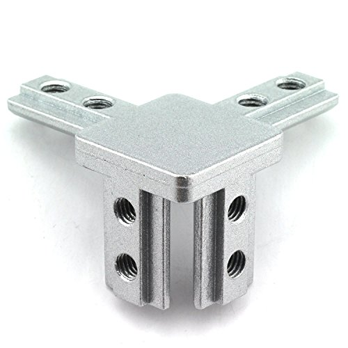 PZRT 4-Pack 3030 Series 3-Way End Corner Bracket Connector, with Screws for Standard 8mm T Slot Aluminum Extrusion Profile