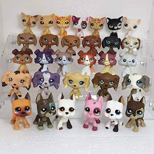 Lps Littlest Pet Shop Jouets Aléatoire Mignon Pet Shop Animal Lps Jouets Debout Cheveux Courts ChatCollie Spaniel Great Dane Action Figure Jouets random5