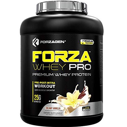 Forzagen Whey Protein Powder - Protein Shakes with 25g of Protein Low Carb Protein Powder | No Sugar Added | Best Protein Powder Tasting | Mass Gainer | Weight Gainer | Vanilla Protein Powder 5lb