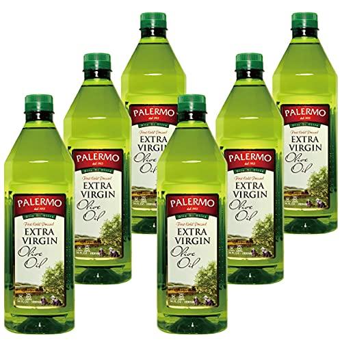 パレルモ エキストラバージン オリーブオイル 1,000ml X 6本セット『無添加・低温圧搾・大容量1リットル・ペットボトル入り』Palermo Extra Virgin Olive Oil 1L X 6pcs