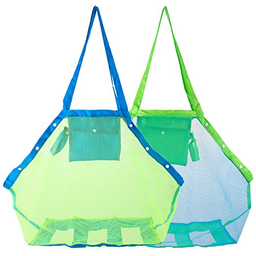 TOPTOPS Mesh Beach Tote Bag