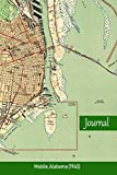 Journal: Mobile, Alabama (1940): Blank, Lined Book with Vintage Topo Map Cover