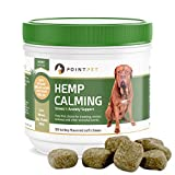 ALL NATURAL CALMING SUPPLEMENT FOR YOUR DOG - Our PointPet Hemp Calming Soft Chews are a perfect choice for dogs struggling with noise and separation anxiety, travel sickness and work as anxiety relief to keep your dog calm during thunderstorms. GREA...