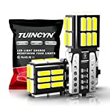 TUINCYN 194 LED Bulb Error Free Super Bright White 192 168 LED Bulb T10 Wedge 24pcs-4014 LED Chipsets LED Light Bulb Replacement for 12V Car Interior Dome Map Reading Trunk Carbin Lincese Plate Light