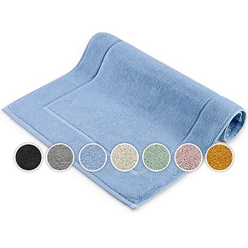 Melunda Alfombrilla de baño para hotel – 50 x 70 cm azul – Marco – Alfombrilla de baño alfombra de baño, alfombrilla de ducha, alfombrilla de baño, alfombra de baño lavable