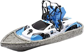Jessie storee RC Boat Drone Sea Land Air 3 in 1 Triphibian Vehicles Mini Watercraft Amphibious Remote Control Quadcopter Creative RC Car for Boy Teens Falling Resistance Tiktok Hot Item (Blue)