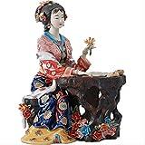 Figurine di angelo in porcellana Scultura in ceramica figurativa Statua smaltata Figura Decorazione di arte per la decorazione domestica Accessori Soggiorno