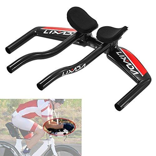 Lixada Bicycle TT Handlebar Aero Bars Cycling Bike Armrest Handlebars Tri Bars Triathlon MTB Road Bike Aerobars