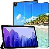 Funda para Samsung Galaxy Tab A7 Tablet 2020 de 10,4 Pulgadas (sm-t500 / t505 / t507), Riviera Maya Paradise Beaches Cancún Quintana Funda con Soporte de ángulo múltiple con activación/suspensión a
