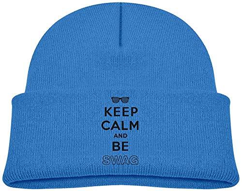 NR Behalten Sie Ruhe und Seien Sie Die Hüte des Swag-Kleinkindes Winter-Strickmütze-Kappen-Schädel-Kappe, OneSize, Rosa