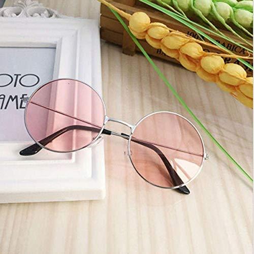WQZYY&ASDCD Gafas de Sol Gafas De Sol Redondas De Plástico Retro A La Moda para Mujer, Gafas De Sol con Montura De Gafas, Gafas De Conductor con Montura Femenina-_4