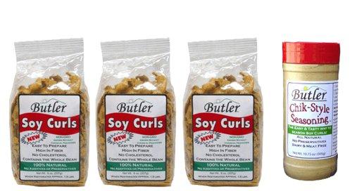 Butler Soy Curls, 8 oz x 3