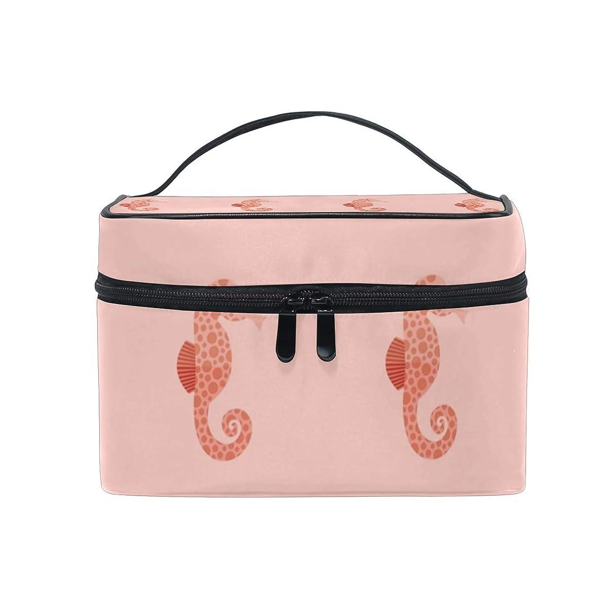 極めて簡潔なバストメイクボックス シホルズ動物海洋柄 化粧ポーチ 化粧品 化粧道具 小物入れ メイクブラシバッグ 大容量 旅行用 収納ケース