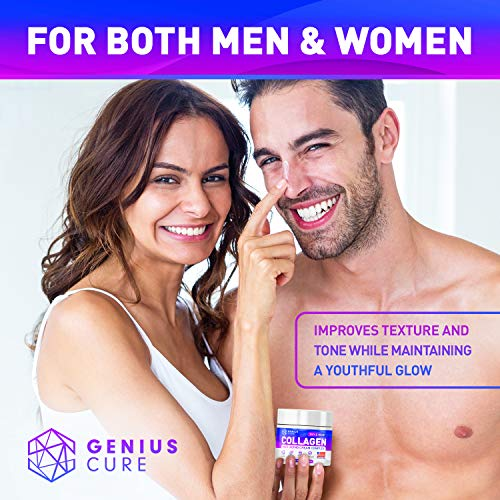 51uK0TY VFL - GENIUS Collagen Cream - Smart Anti Aging Face Moisturizer - Day & Night Wrinkle Cream - Hyaluronic Acid & Vitamin E - Cleanse, Moisturize, and Protect Your Skin 2oz