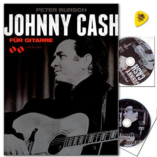 Johnny Cash für Gitarre von Peter Bursch - Lehrmaterial, CD, DVD , Dunlop Plek - HINWEIS! Lehrprogramm/Lehrvideo gemäß §14 JuschG