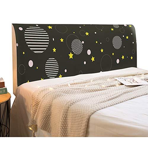 NHK-MX Cover Bett Kopfteil Husse/Bezug Mode Sternenhimmel für Schlafzimmer All-Inclusive Elastische Staubdicht Kopfteilbezug (Size : 2.0m)