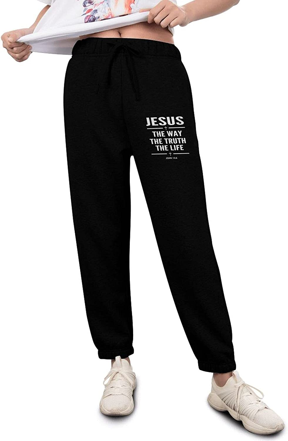 Jesus The Way NEW Truth Life John J Pants 14 6 Womens' Track Deluxe