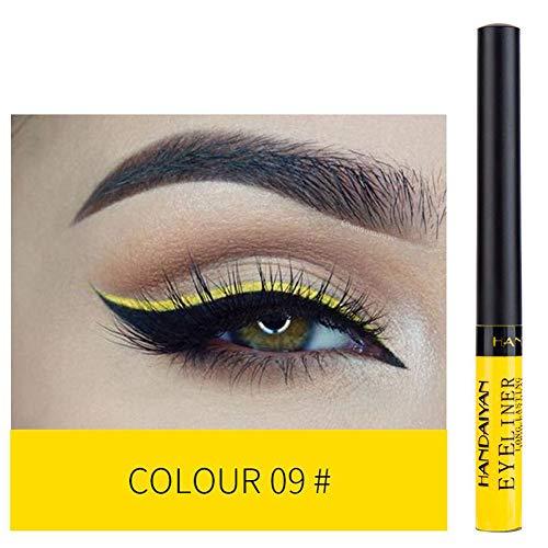 Aesyorg Neuer 12-farbiger langlebiger Flash Eyeliner Einfacher wasserdichter Eyeliner Beauty...