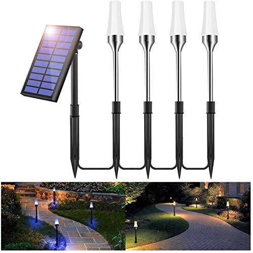 Gartenbeleuchtung Solar RGB, Greenclick 4er Set Gartenstrahler, LED Gartenleuchte Solar,Gartenleuchte mit Erdspieß LED Rasenlicht,IP65 Wasserdicht LED Solarlampe,Außenleuchte, Gartenlampe, Wegeleuchte