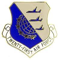 "U.S. AIR FORCE, 21st Air Force SHIELD - Original Artwork, Expertly Designed PIN - 1"""