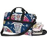 Buyxbn - Bolsa de deporte con compartimento para zapatos, tamaño extragrande, para viajes de fin de semana, para hombres y mujeres, unisex, 35-40 l