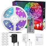 ALED LIGHT Kit de Ruban LED Lumineux 10M / 32.8ft 5050 RGB SMD Multicolore 300 LED Non Etanche Bande LED Flexible Lumineux Strip...