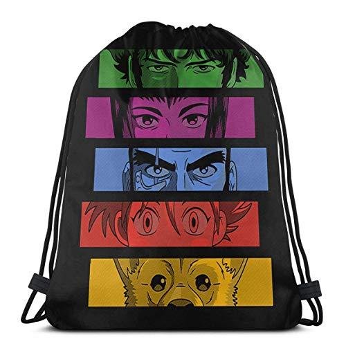 Drawstring Backpack Bags,Cowboy Bebop. School Backpack Unisex Gym Bag Foldable Drawstring Bags Portable String Backpack For Men & Women