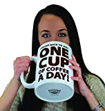 BigMouth Inc. One Cup of Coffee Gigantic Mug – Hilariously Huge 64 oz Ceramic Coffee Cup – Perfect for Gag Gift for Coffee Lovers