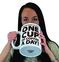 One Cup of Coffee Gigantic Mug