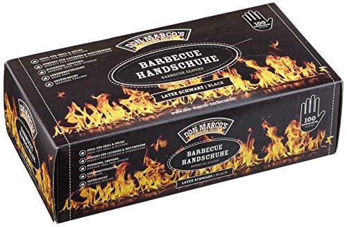 DON MARCO'S BARBECUE BBQ Handschuhe, Latex, Schwarz, Größe M, 1er Box (100 Stck)