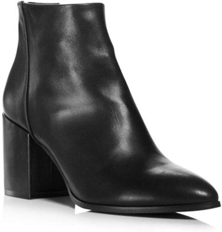 Aqua Womens Dante Leather Almond Toe Ankle Fashion Boots