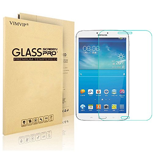 Samsung Tab 3 8.0 Screen Protector,VIMVIP Ultra Slim Guard Clear Tempered Glass Screen Protector for Samsung Galaxy Tab 3 8.0 T310 with Perfect Anti-scratch/Shatterproof/Fingerprint (For Tab 3 8.0)