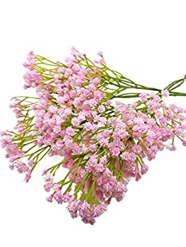 Floral Kingdom Artificial Real Touch 26  Baby s Breath Flowers for Floral Arrangements Bouquets Home Office Decor  Pack of 5   Pink