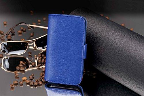 Cadorabo Hülle für Huawei Ascend Y330 - Hülle in KÖNIGS BLAU – Handyhülle mit Kartenfach aus struktriertem Kunstleder - Case Cover Schutzhülle Etui Tasche Book Klapp Style - 4