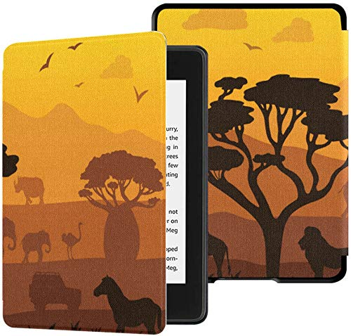 wasserfestes Stoffcover für Kindle Paperwhite (10. Generation, Release 2018), Africa Safari Landscape Sunrise Tablet-Hülle