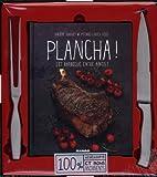 Plancha ! et barbecue entre amis - 1 livre + 1 couteau + 1 fourchette pour plancha et barbecue 100% inox