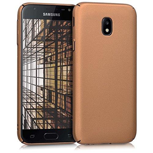 kwmobile Hülle kompatibel mit Samsung Galaxy J3 (2017) DUOS - Handy Hülle Handyhülle - Backcover Hardcover Cover Schutzhülle Metallic Kupfer