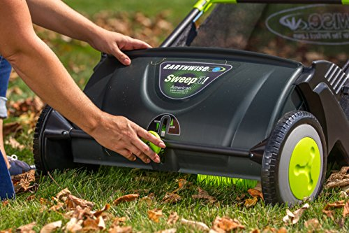 Earthwise LSW70021 21-Inch Push Lawn Sweeper, Black