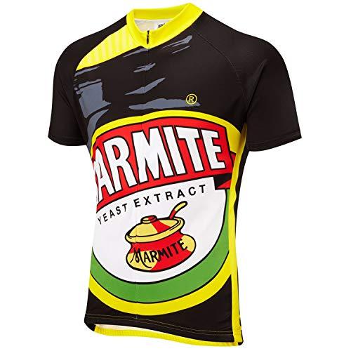 21Grams Maillot de Ciclismo Retro Marmite Novedad Manga Corta Hombre Camiseta Maillot de Bicicleta Ropa MTB Transpirable Secado Rápido (S)
