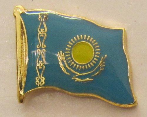 Kasachstan Pin Anstecker Flagge Fahne Nationalflagge Flaggenpin Badge Button Flaggen Clip Anstecknadel