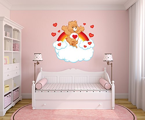 Certified Freak Heart Bear Wallart 102 x 100 cm