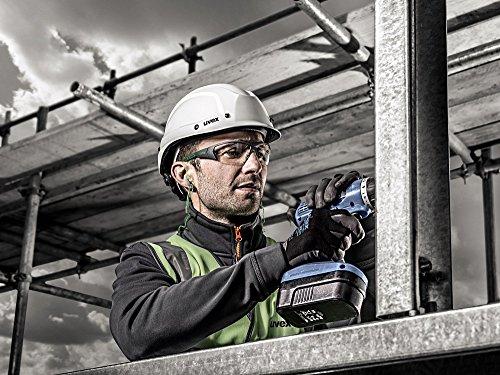 uvex i-Works Schutzbrille – Kratzfeste & Beschlagfreie Arbeitsbrille – 100% UV-400-Schutz – Grün/Transparent - 8