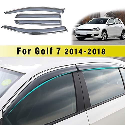 Jiahe Für Volks Wagen Golf 7 2014-2018 4PCS Original Windabweiser Für Seitentüren Regenabweiser Schwarz Fenster Vent Visiere Smoked Abweiser Türen Ventvisor