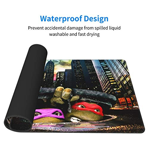 """Mouse Pad Nin.Ja Turtles Large Gaming Mousepad Extended Desk Mat Ultra Thick Mousepad for Office Gamer Home 29.5""""X15.8"""" Photo #7"""
